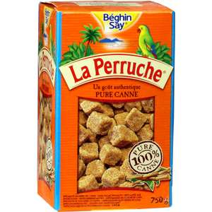Sucre la Perruche pure canne morceaux roux traditionnels 1 kg (remise immediate de 1€)