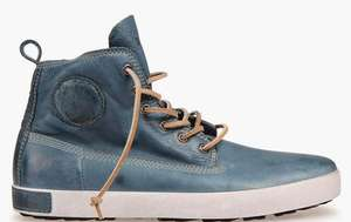 Sélection de chaussures  Baskets Blackstone en promo - Ex : Sneakers montantes en cuir effet vieilli