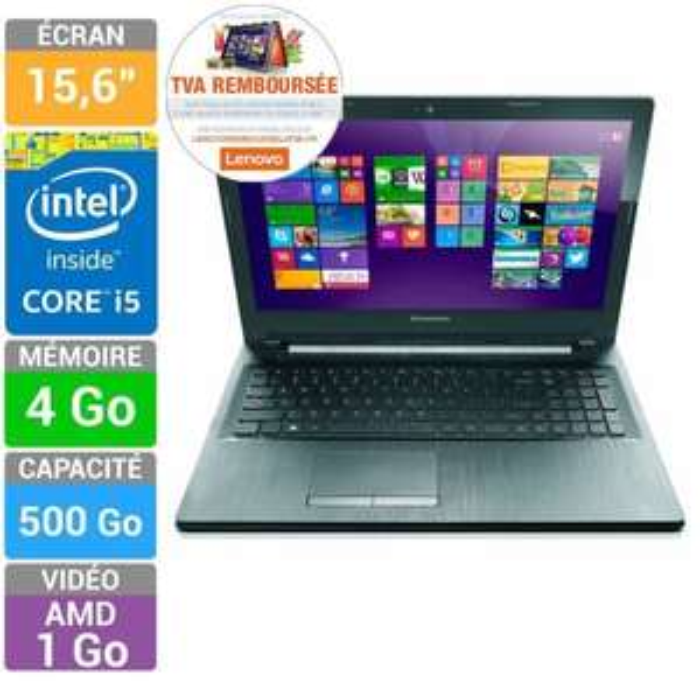 "PC Portable 15.6"" Lenovo  Ideapad G50-70 (i5, 4 Go Ram, 500 Go HDD) (ODR TVA)"