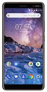 "Smartphone 6"" Nokia 7 Plus - Full HD+, 4 Go RAM, 64 Go ROM, Snapdragon 660, Android One, Noir"