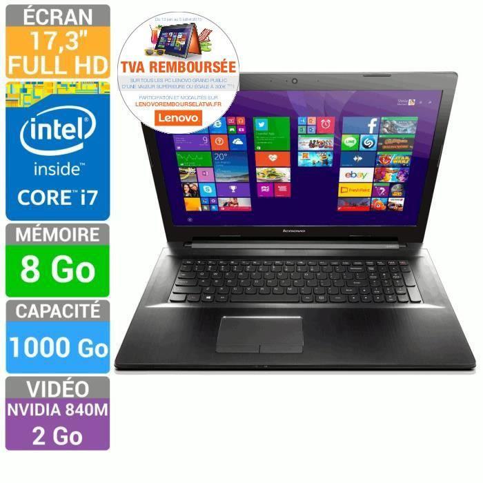 """PC portable 17.3"""" Lenovo  Z70-80 (i7, 8 Go Ram, GT 840M) (ODR TVA)"""