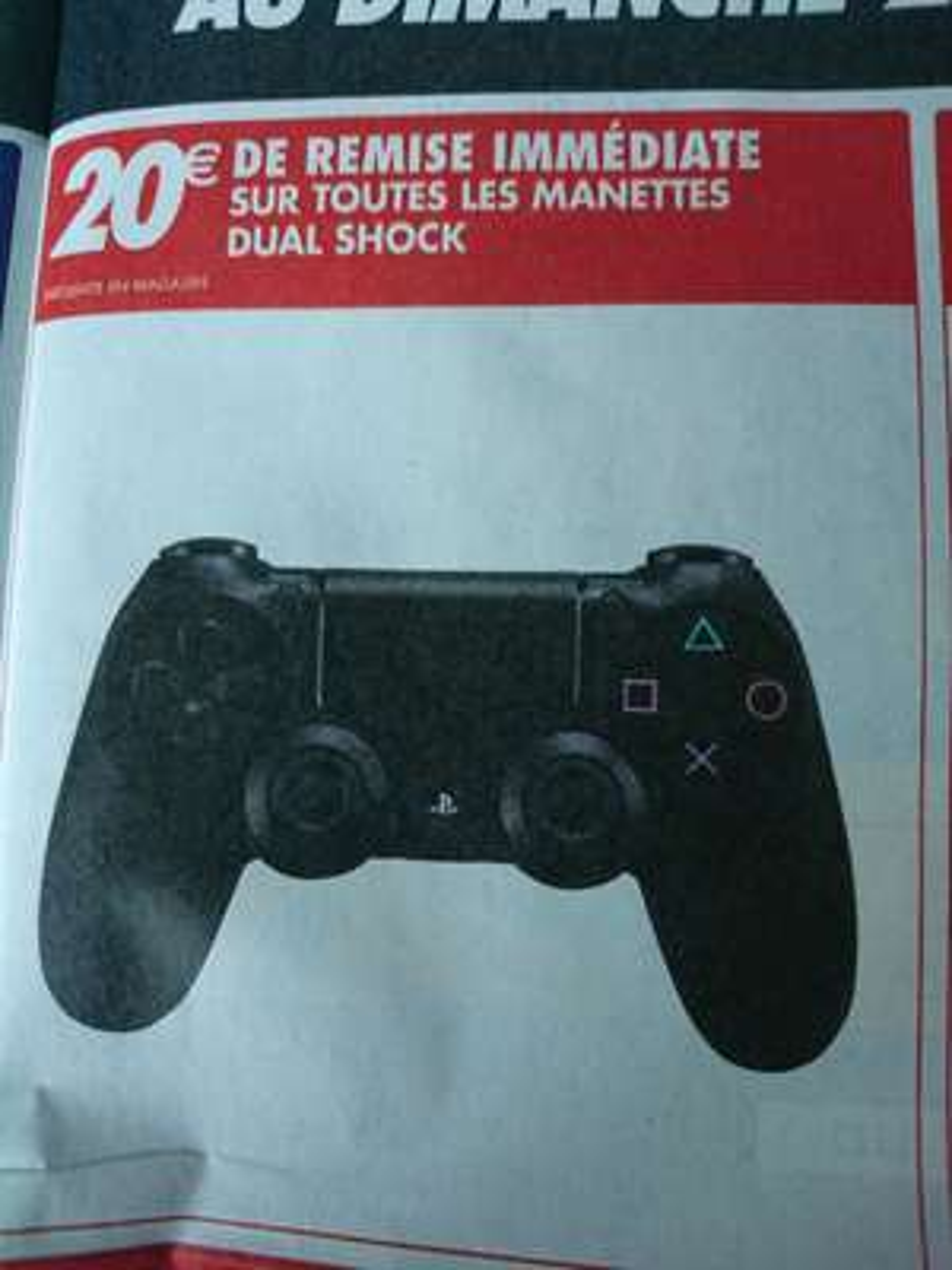 20€ de remise sur les Manette Sony Dual Shock pour PS4