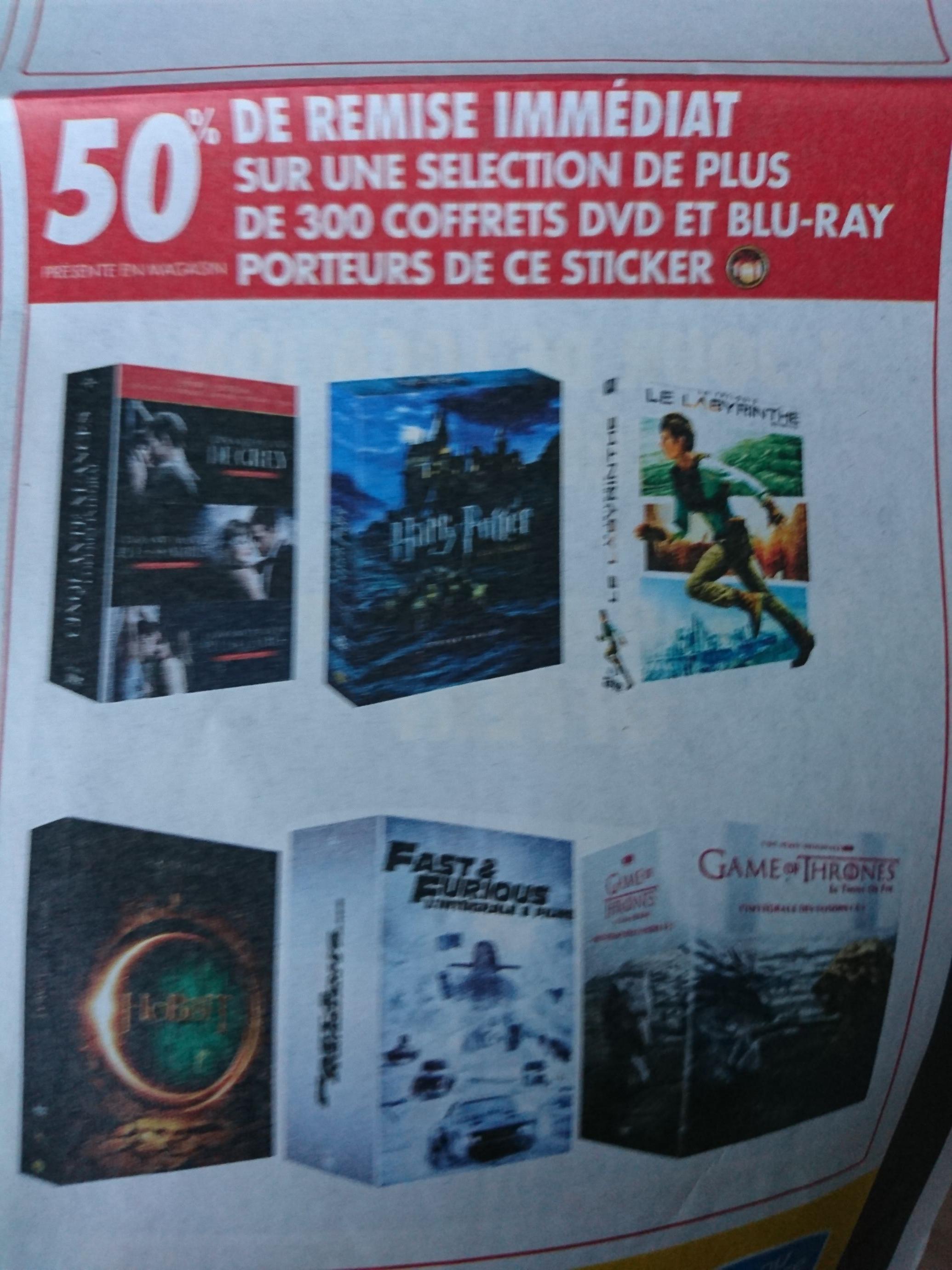 50% de réduction sur une sélection de Coffrets DVD et blu-ray signalés
