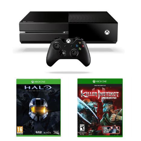 Console Xbox one + Halo master chief collection + killer instinct