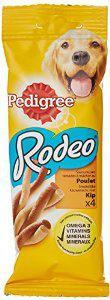 Lot de 24 sachets de 4 snacks pour chien Pedigree Rodeo Gout poulet