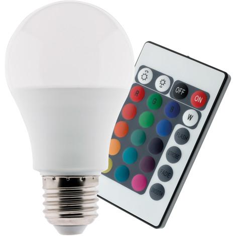 ampoule led 7 5w e27 de couleurs rgb avec t l commande. Black Bedroom Furniture Sets. Home Design Ideas