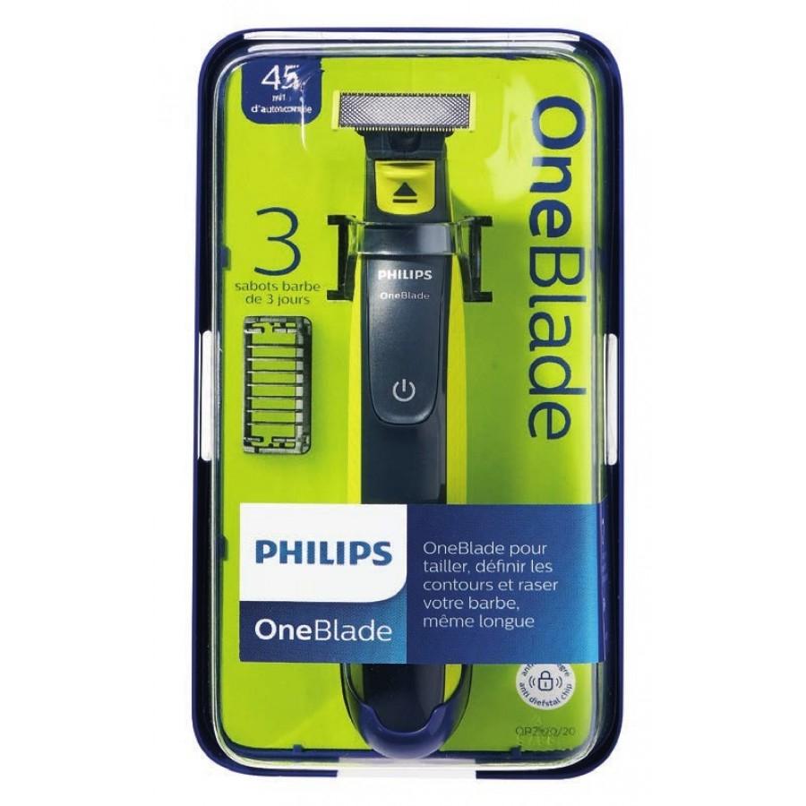 Rasoir Philips One Blade avec 3 Sabots clipsables