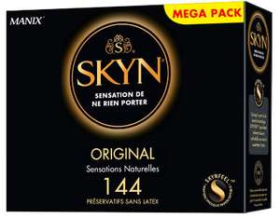 Lot de 144 préservatifs Manix Skyn Original sans latex