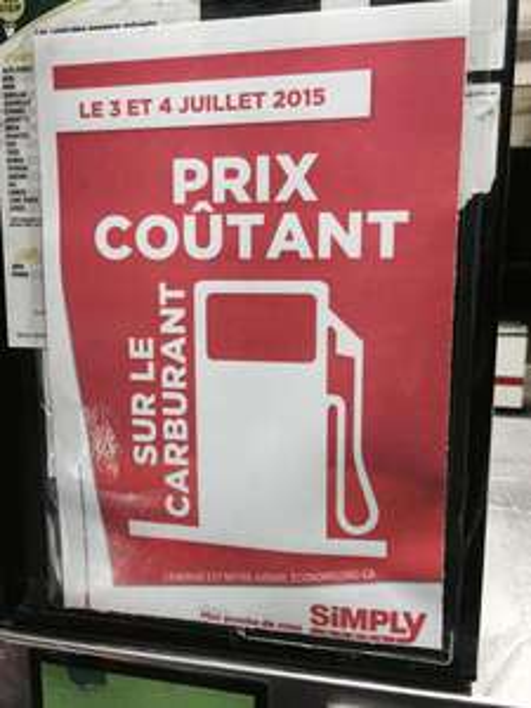 Carburants à prix coutant