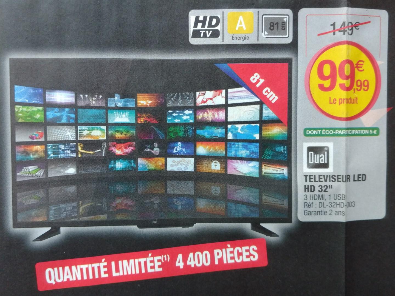 """Televiseur LED 32"""" DUAL DL-32HD-003 - Diagonale 81 cm"""