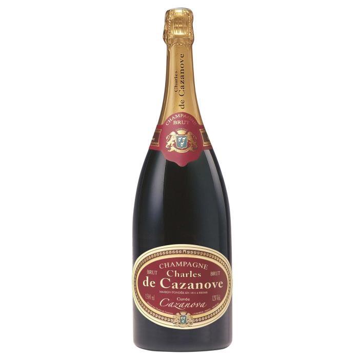 Sélection de produits remboursés à 80% - Ex. 2 bouteilles de Champagne Charles de Cazanove brut ou rosé (Via 47,92€ remboursés sur la carte)