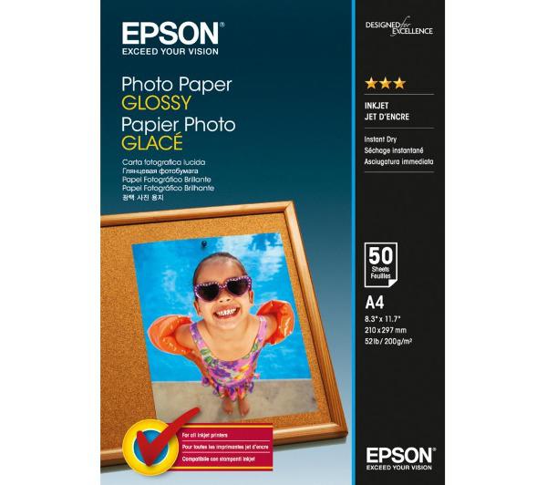 Papier photo brillant A4  Epson C13S042539 - 50 feuilles