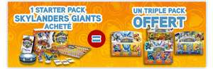 Skylanders Giants Stater Pack acheté = 1 triple pack offert