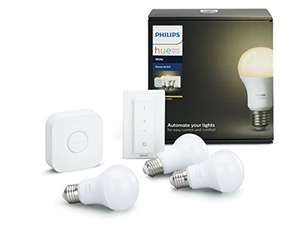 kit de d marrage philips hue 3 ampoules e27 blanc t l commande dimmer. Black Bedroom Furniture Sets. Home Design Ideas