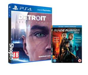 Detroit: Become Human sur PS4 (VO - UK Version) + Blu-ray Blade Runner 2049