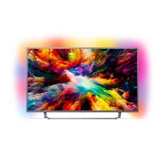 """TV 65"""" Philips 65PUS7303 - LED, 4K UHD, HDR Plus, Smart TV, Ambilight 3 côtés"""