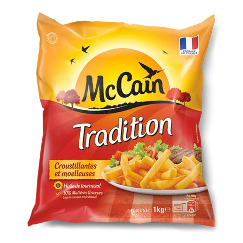 Frites surgelés Tradition Mc Cain 2,5 kg (via remise immédiate + BDR)