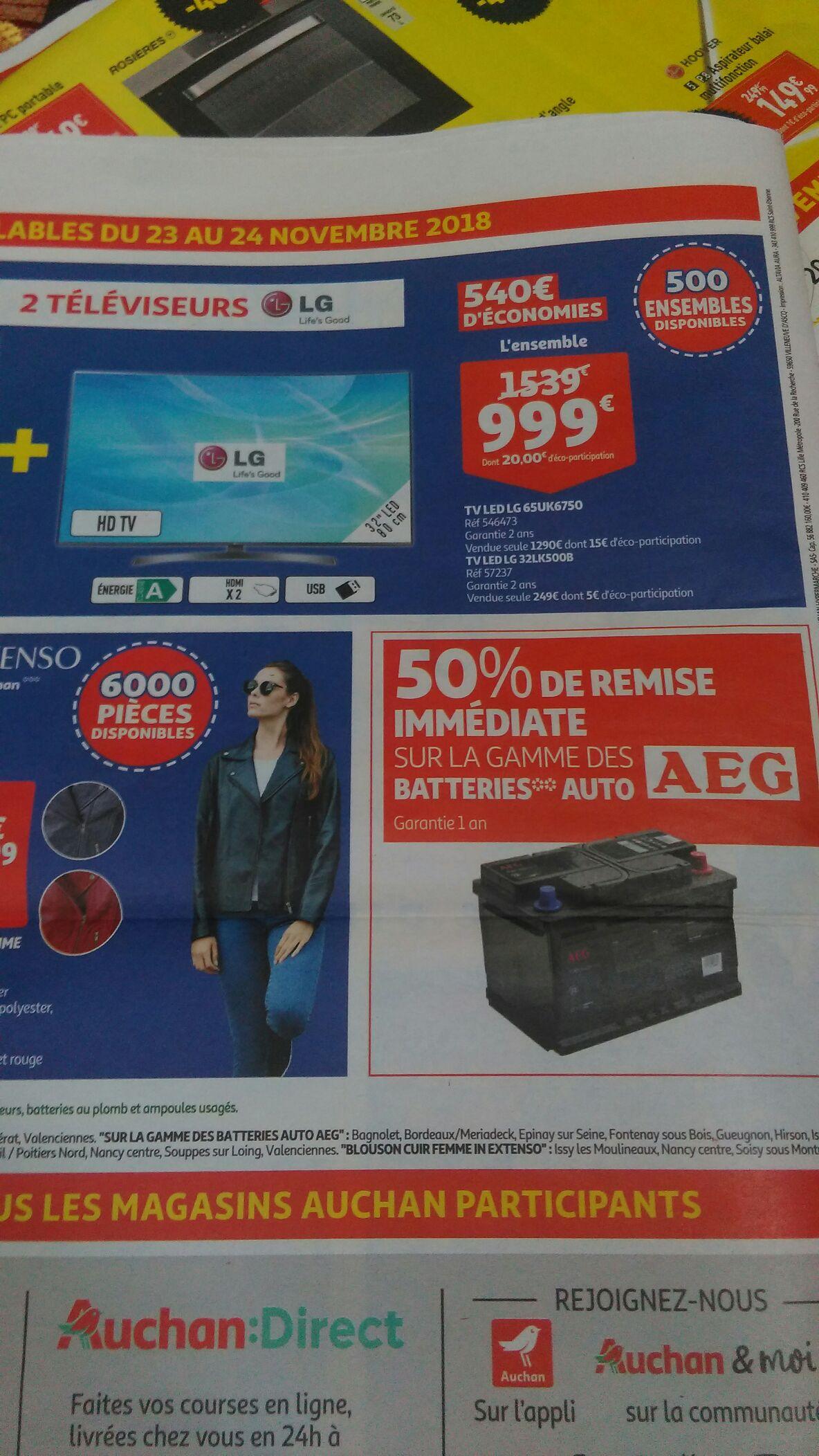 50% de remise immédiate sur la gamme des batteries auto AEG