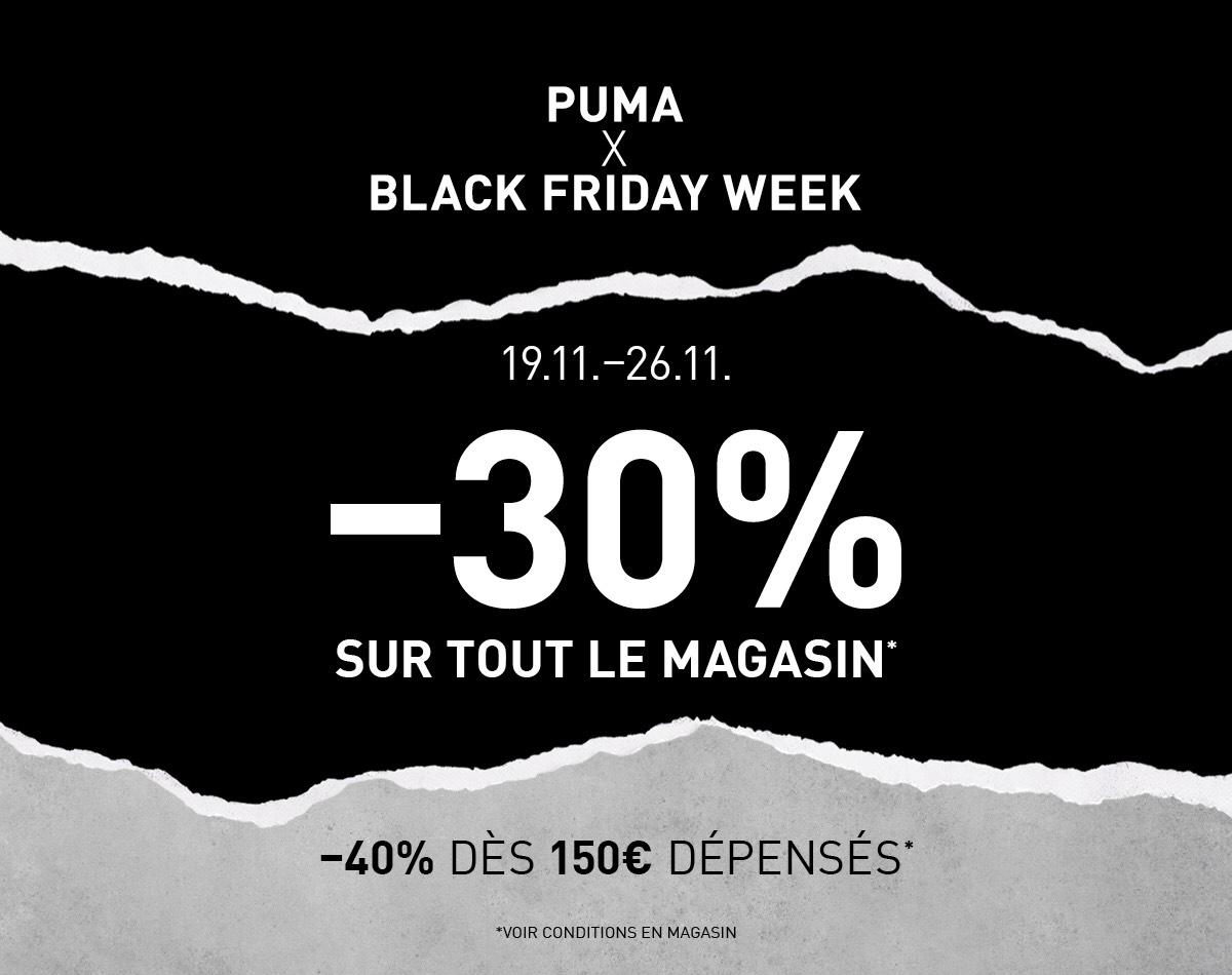 30% de réduction et 40% dès 150€ d'achat en magasin