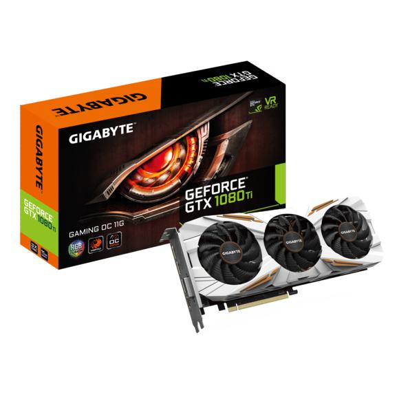 Carte Graphique Gigabyte  GeForce GTX 1080 Ti Gaming OC -  11 Go
