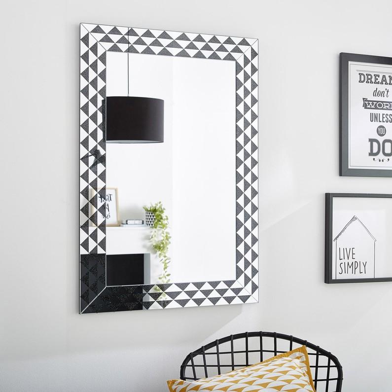 Miroir géométrique triangles - 60 x 90cm
