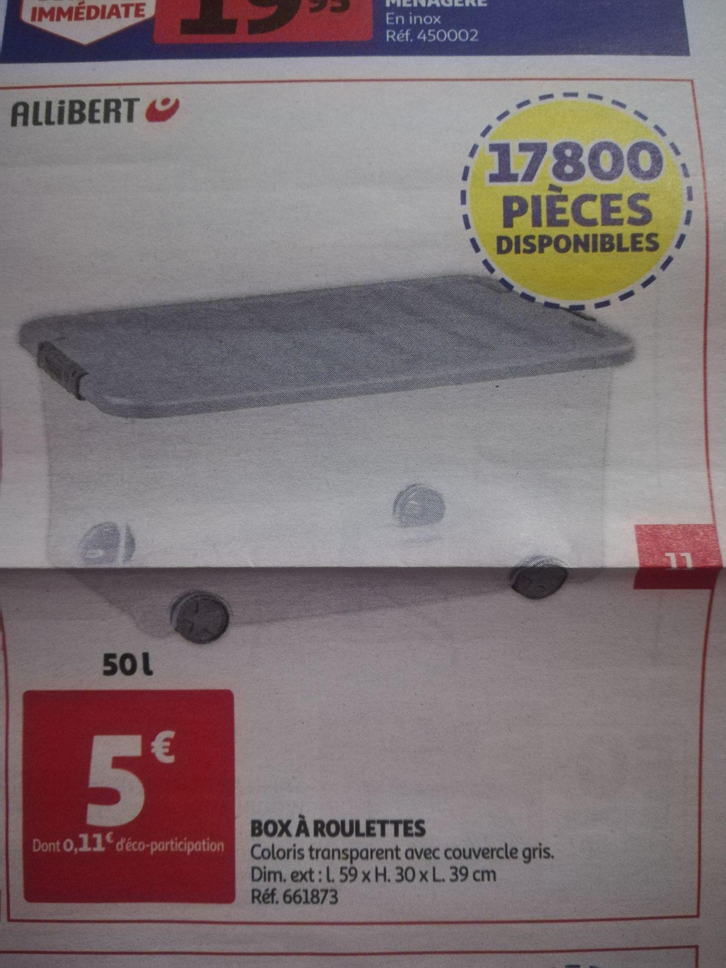 Box à roulettes Allibert - 50 litres
