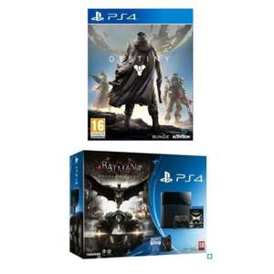 Pack Console Sony PlayStation PS4 500 Go Noire + Batman Arkham Knight + Destiny