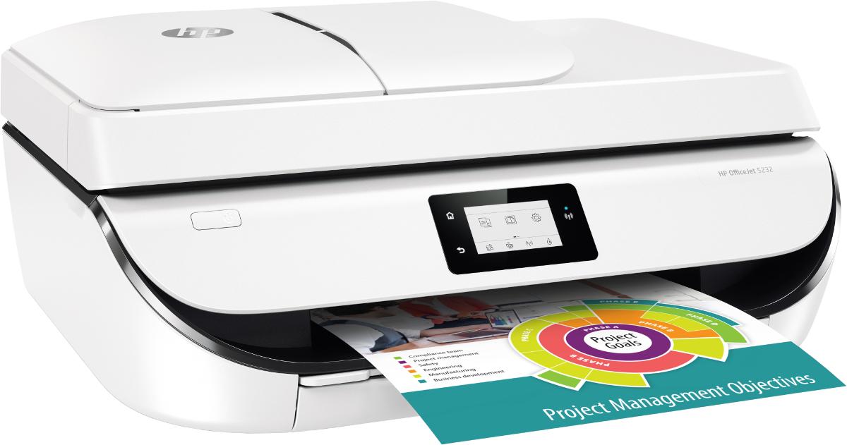 Imprimante Officejet 5232 - R/V automatique + 1 an d'abonnement (50 pages/mois) HP instant ink (via ODR de 40€)
