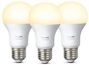 Lot de 3 Ampoules LED E27 Philips Hue White - 9.5W