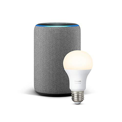 Nouvel Echo PLUS  (2ème génération) + Ampoule connectée Philips Hue