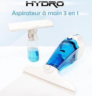 Aspirateur eau et poussière + nettoyeur de vitres Hydro