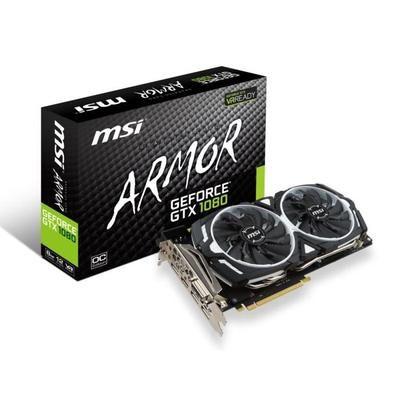Carte graphique MSI GeForce GTX 1080 ARMOR OC - 8Go