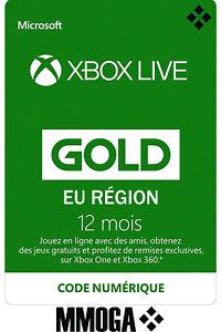 Abonnement Xbox Live Gold - 12 mois (dématérialisé)