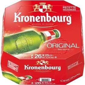Lot de 3 packs de 26 bières de Kronenbourg