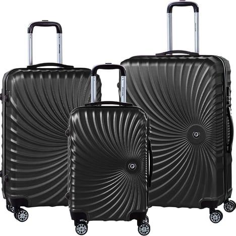 Sets de 3 valises Pierre Cardin - 55/65/75cm, Noir