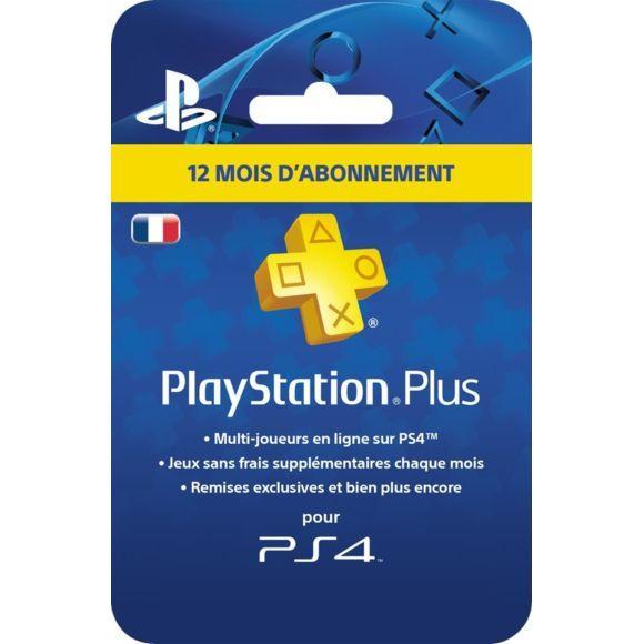 Carte d'abonnement d'un an au Playstation Plus