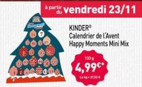 Calendrier de l'Avent Kinder Happy Moments Mini Mix