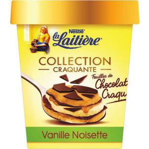 Crème glacée vanille noisette La laitière - 440ml (via BDR)