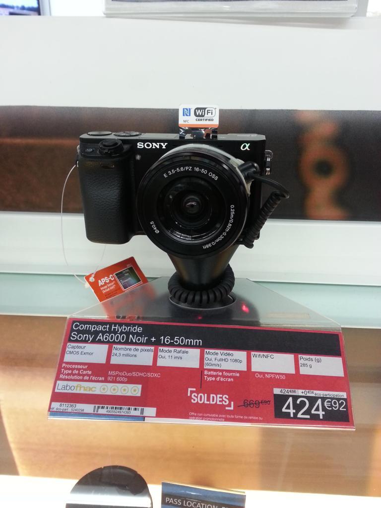 Appareil photo hybride Sony Alpha 6000 + objectif  16-50mm