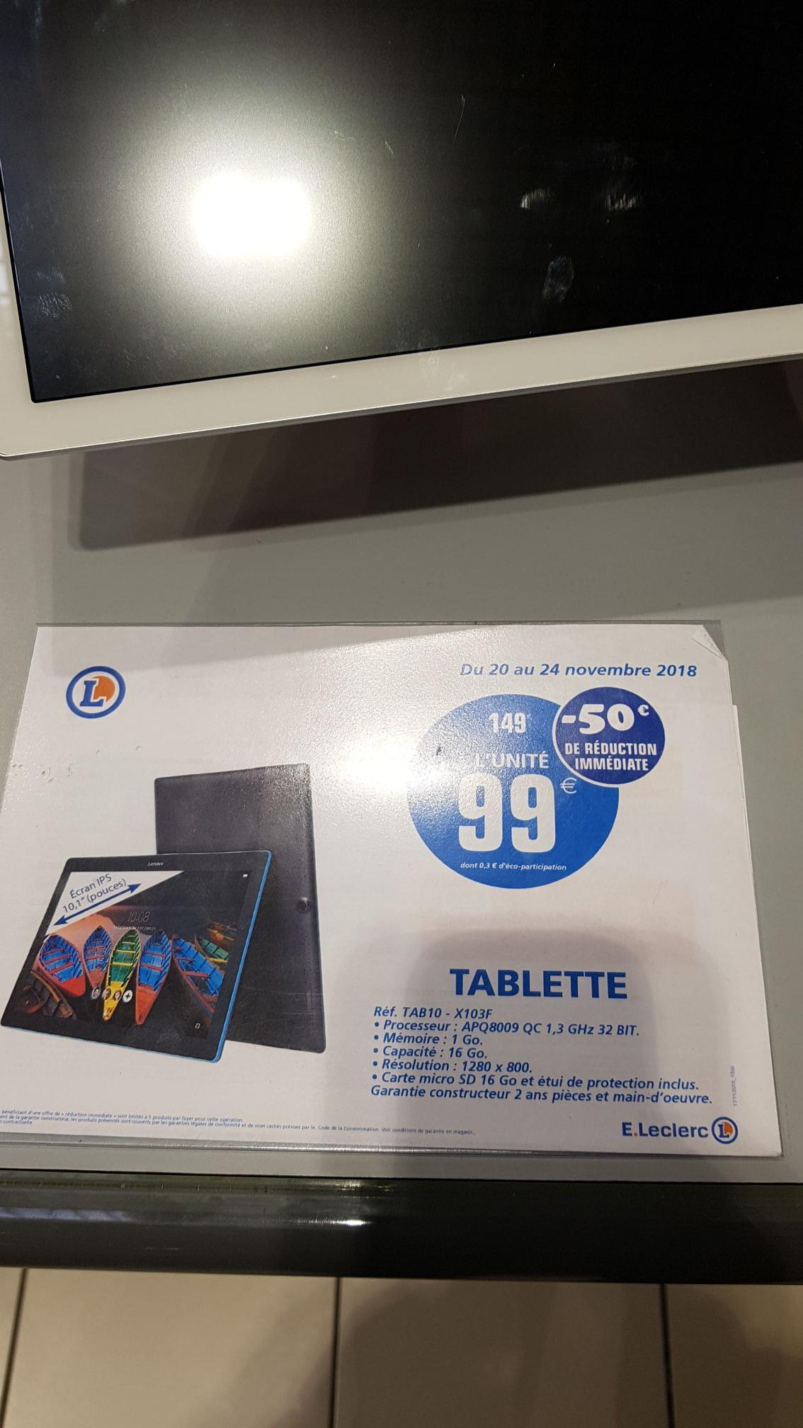 """Tablette tactile 10"""" Lenovo Tab10- , 1 Go de RAM, 16 Go + 16Go sd inclus + étui  - Osny (95)"""