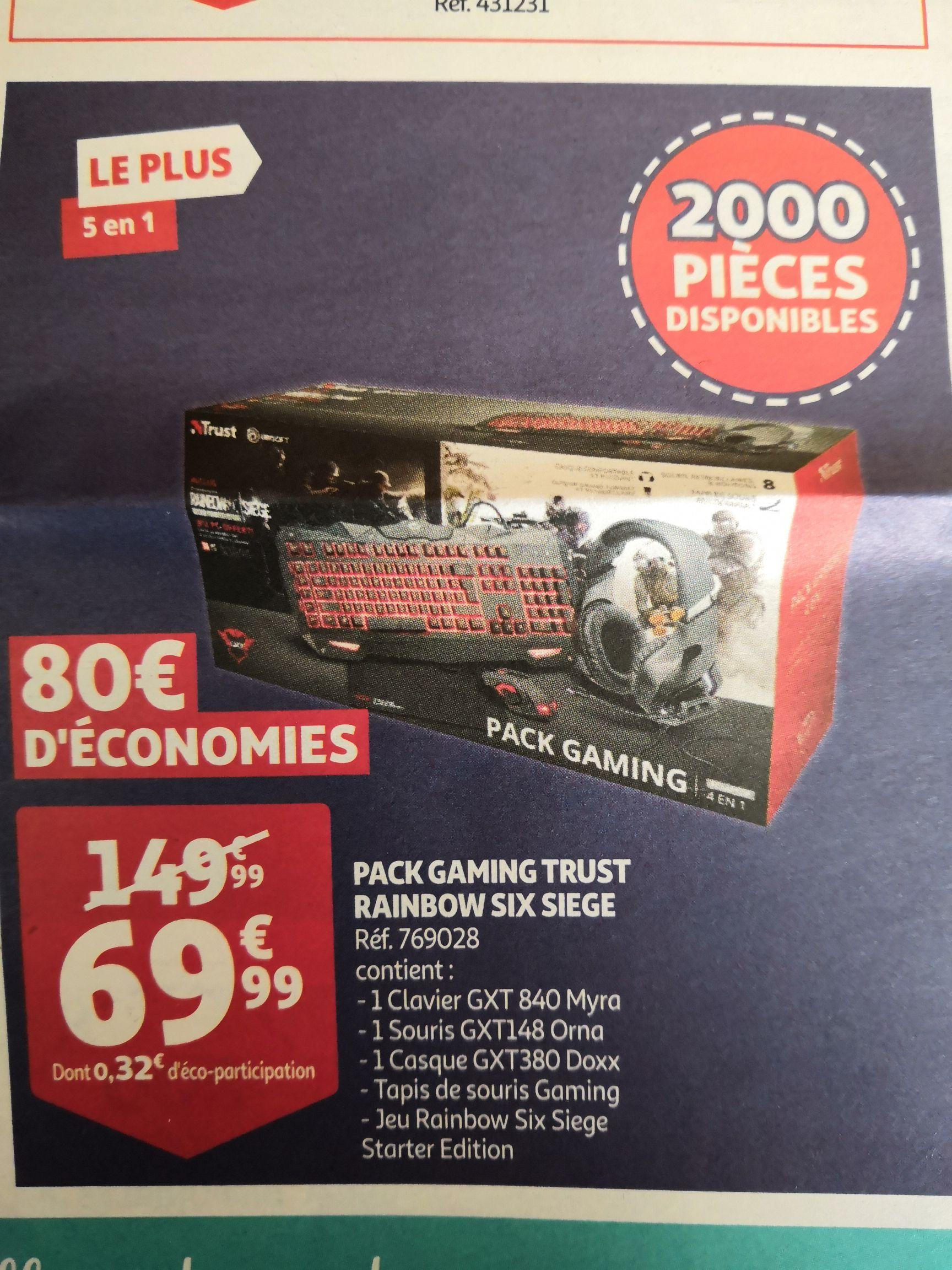 Pack Trust Clavier GXT 480 Myra + souris GXT 148 Orna + casque GXT 380 Doxx + tapis de souris) + Tom Clancy's Rainbow Six: Siege sur PC