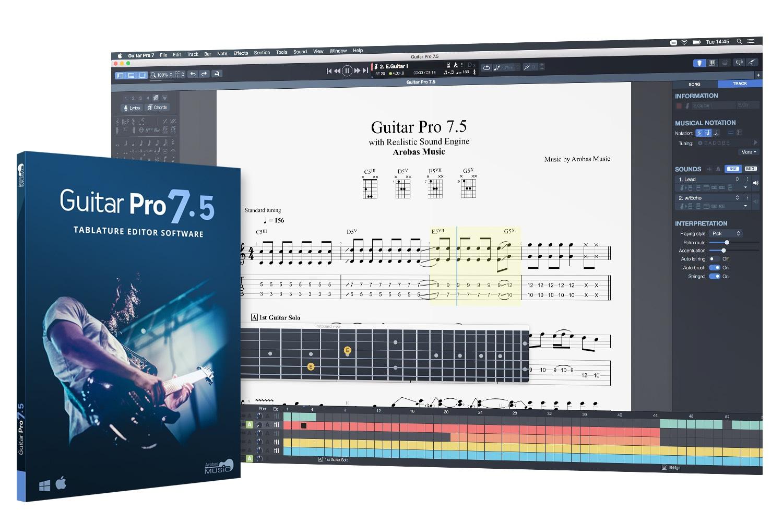 Logiciel Guitar Pro 7.5 (Dématérialisé)