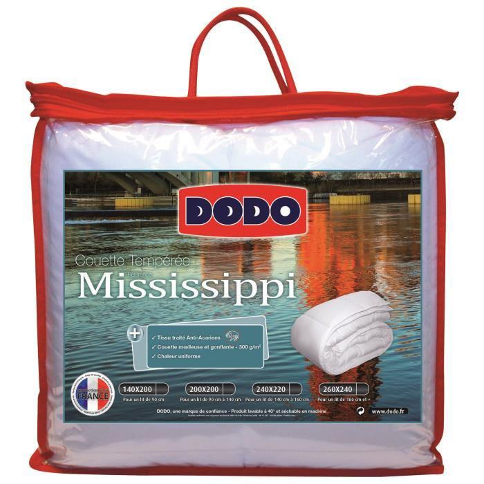Couette Dodo tempérée Mississipi anti-acariens 300g/m² 220x240