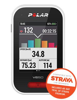 Compteur vélo GPS Polar V650 avec cartographie