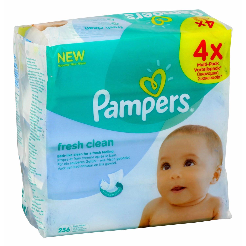 Lot de 8 x 64 Lingettes Pampers Fresh Clean