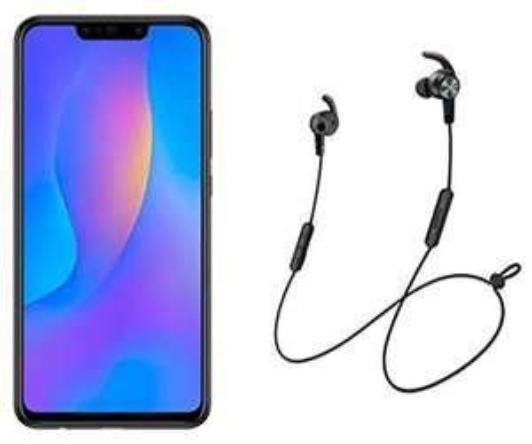 "Smartphone 6.3"" Huawei P smart+ + Écouteurs Sport Lite AM61"