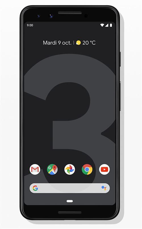"Smartphone 5.5"" Google Pixel 3 - 64Go +  6 mois de Youtube Music Premium offert"