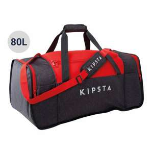 Sac de sports collectifs Kipsta Kipocket 80 litres gris rouge