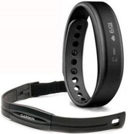 Bracelet d'activité Garmin Vivosmart HRM noir petit
