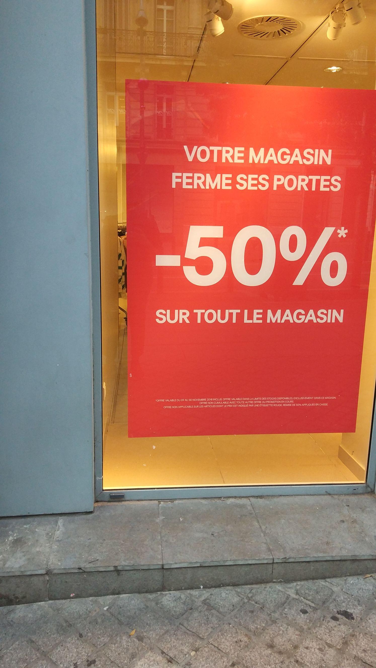 50% de réduction sur tout le magasin - Marseille (13)